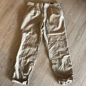 Vintage Burberry London Khaki Slacks Straight Leg